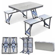 Раскладной стол и стулья Artist Hand Aluminum Folding Picnic Table with 4 Seats Portable Camping Table