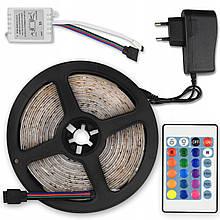 Лента светодиодная LED 3528 RGB 3м 180 LED с пультом и блоком питания