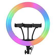 Светодиодная кольцевая лампа F458/RGB 45 см
