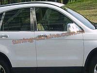 Хромированные накладки на боковые стекла (стекольный молдинг) Hyundai Santa Fe 2010-13