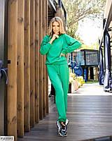 Прогулочный костюм женский яркий из двунитки свитшот и штаны  р-ры 42-46 арт. 1537, фото 1