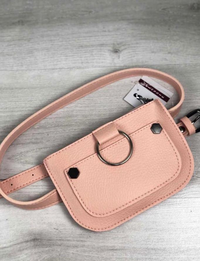 Стильна жіноча молодіжна сумка клатч на пояс Aliri-20529 мерехтливої кольору