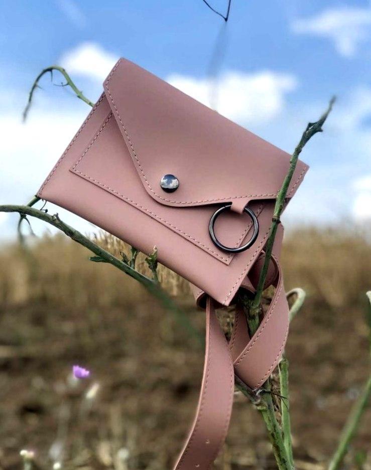 Молодіжна жіноча поясна сумка клатч з кільцем Aliri-20553 мерехтливої кольору