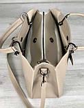 Стильна молодіжна сумка жіноча Aliri-кремова 20209, фото 3