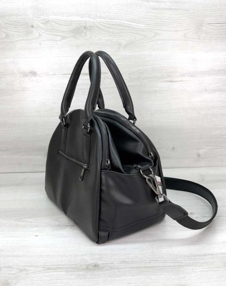 Сумка жіноча з плечовим ременем стильна сумка Aliri-20228 чорна