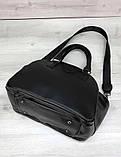Сумка жіноча з плечовим ременем стильна сумка Aliri-20228 чорна, фото 5