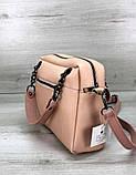 Стильная молодежная женская сумка клатч Aliri-20238 пудрового цвета, фото 4