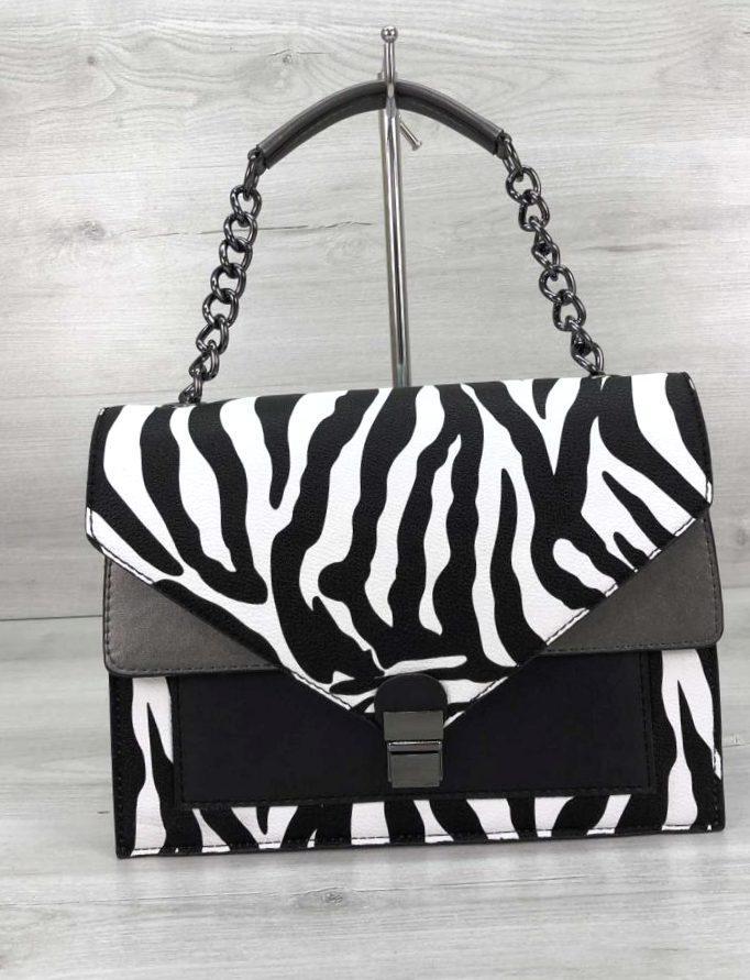 Стильна компактна сумка зеброва принт Aliri-20243 зебра