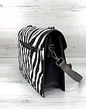 Стильна компактна сумка зеброва принт Aliri-20243 зебра, фото 5