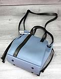 Молодіжна сумка з косметичкою Aliri-20246 блакитного кольору, фото 2