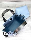 Молодіжна сумка з косметичкою Aliri-20246 блакитного кольору, фото 3