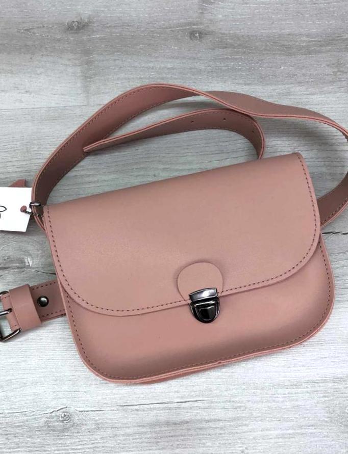 Модна жіноча сумочка на пояс поясна сумка клатч Aliri-20585 мерехтливої кольору
