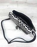 Класна сумочка клатч з леопардовим принтом Aliri-20400 чорний, фото 4
