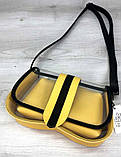 Женская прозрачная сумка клатч 2 в 1 прозрачная сумочка Aliri-20409 желтая, фото 2