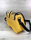 Женская прозрачная сумка клатч 2 в 1 прозрачная сумочка Aliri-20409 желтая, фото 3