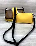 Женская прозрачная сумка клатч 2 в 1 прозрачная сумочка Aliri-20409 желтая, фото 4