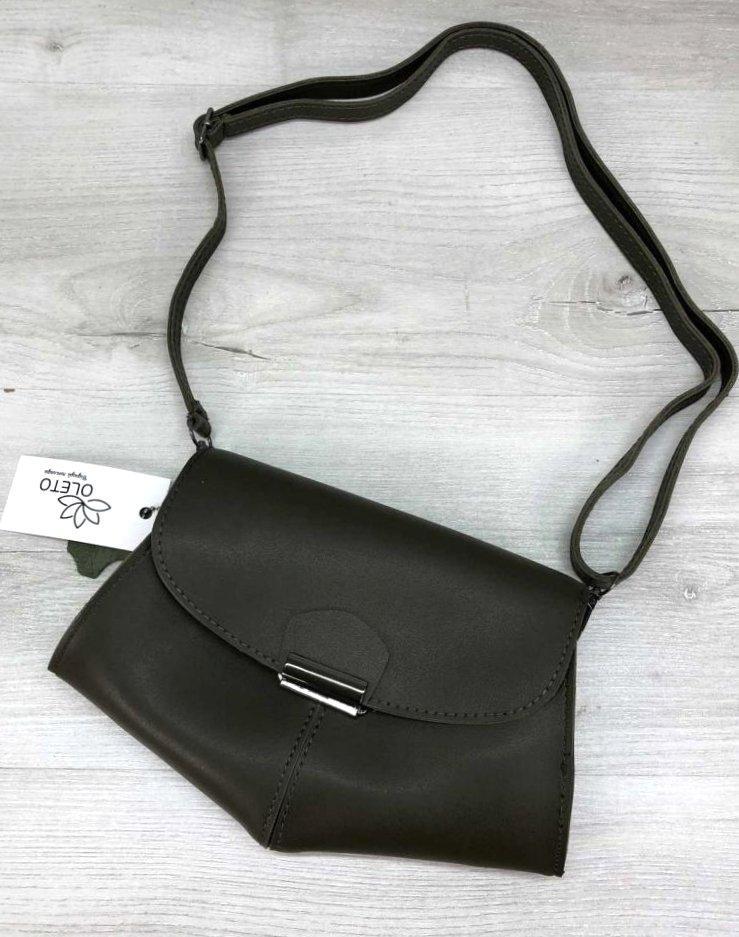 Жіноча молодіжна сумочка клатч кроссбоди жіноча сумка на пояс Aliri-20596 оливкова