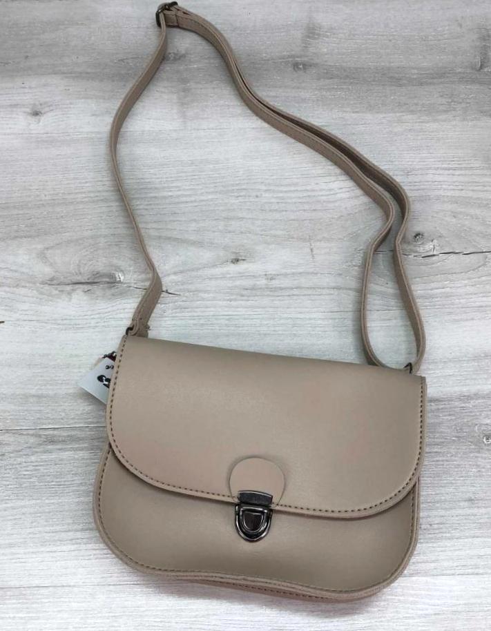 Модная сумочка женская на пояс поясная сумка клатч Aliri-20600 бежевая