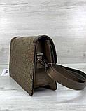 Женская стильная сумка клатч модная сумочка кожа змеи Aliri-20434 кофейная, фото 4
