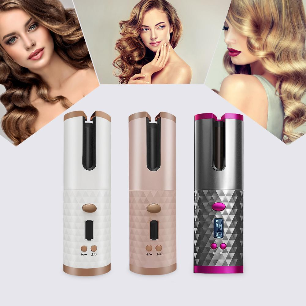 Беспроводной стайлер для завивки и укладки волос Ramindong Hair curler RD-060   Автобигуди Rose