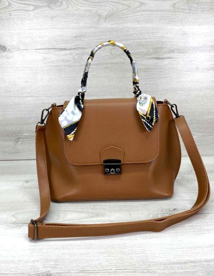 Жіноча молодіжна сумочка Aliri-20300 рудого кольору