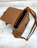 Жіноча молодіжна сумочка Aliri-20300 рудого кольору, фото 4