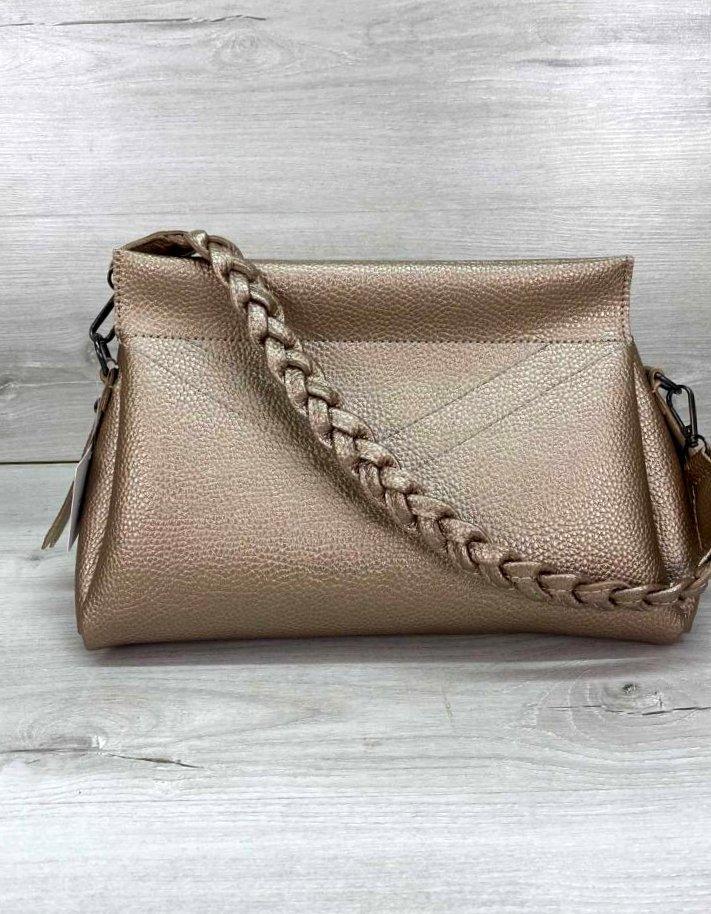 Стильна жіноча сумочка клатч Aliri-20444 золотиста