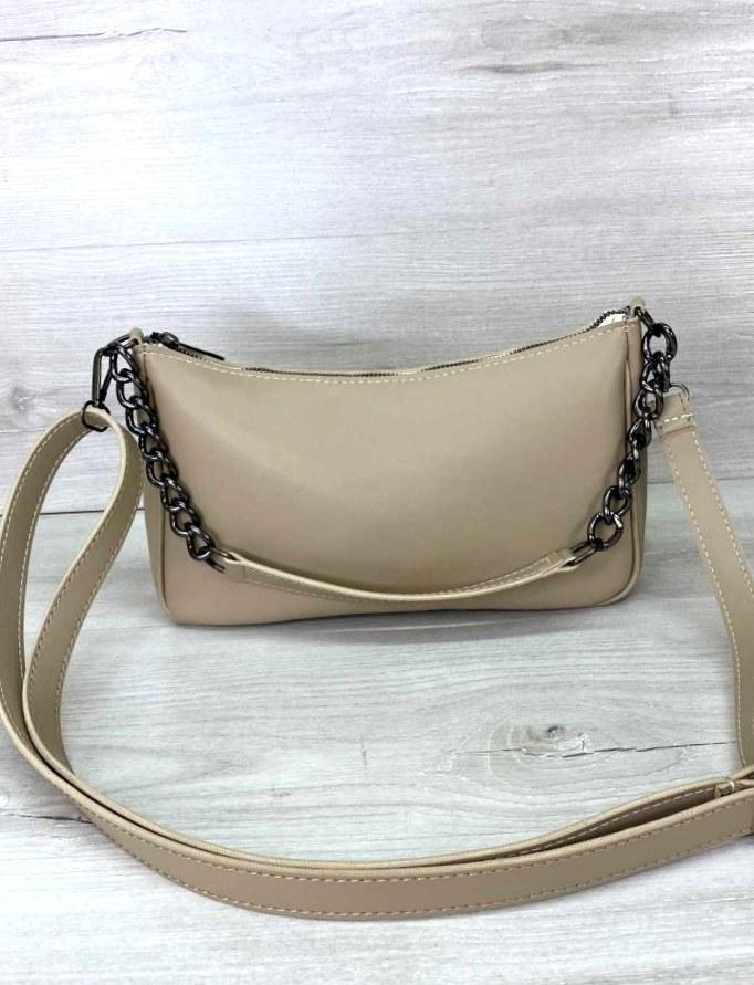 Женская стильная сумка клатч Aliri-20463 бежевого цвета