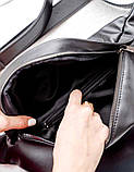 Містка жіноча поясна сумка бананка Aliri-614-04 чорного кольору, фото 4