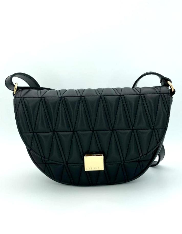 Жіноча модна напівкругла стильна сумка стьобана сумка Aliri-20364 чорна
