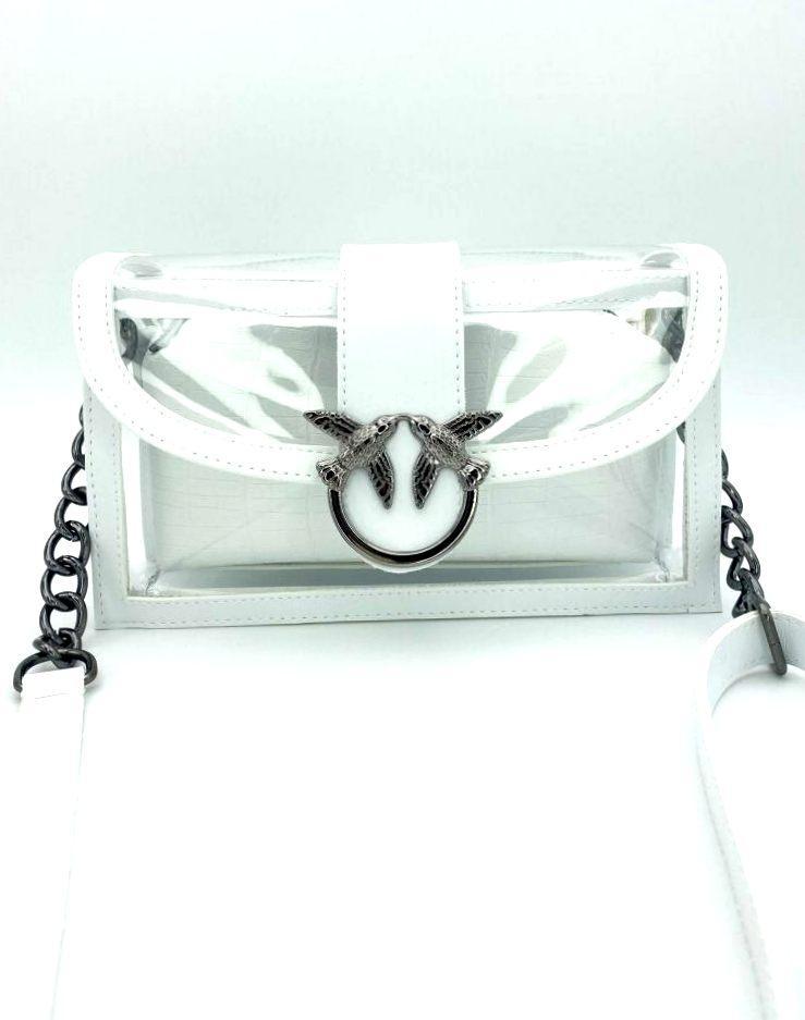 Жіноча молодіжна сумка з ланцюжком пташки Aliri-20366 біла