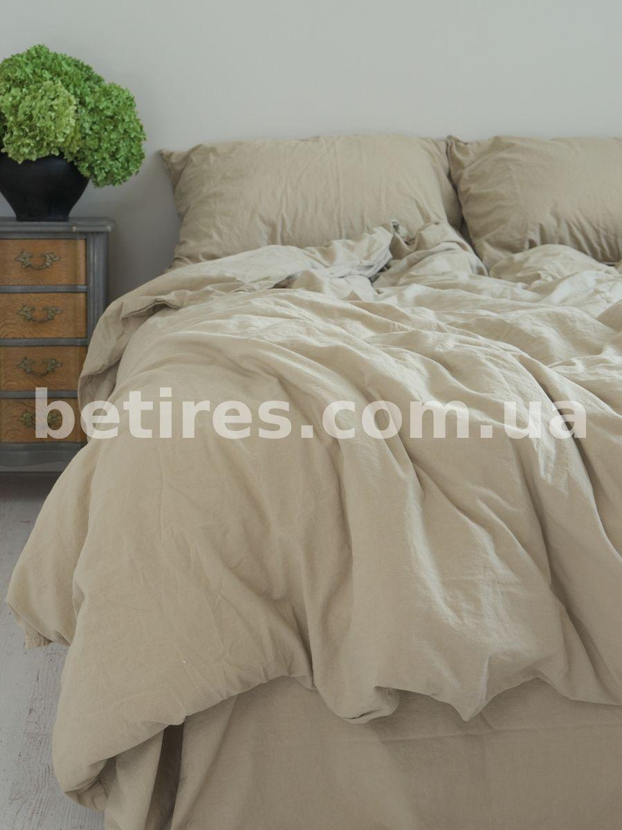 Комплект постельного белья 160x220 LIMASSO OXFORD TAN STANDART бежевый