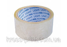 Лента клейкая упаковочная 45 мм х 50 яр Economix light, прозрачная