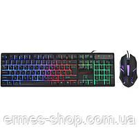 Ігрова клавіатура з підсвічуванням KR - 6300 LED, фото 2