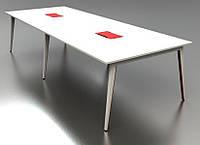 Конференц-стол на металлических опорах А1
