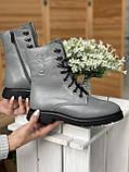 Женские ботинки кожаные зимние серые U Spirit 5024, фото 2