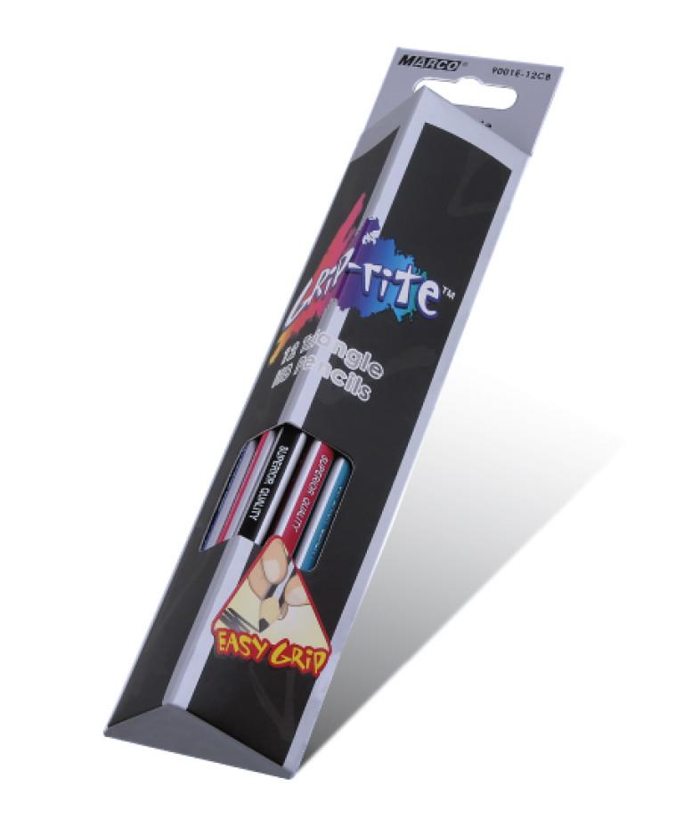 Карандаши графитныеНВ треугольные, Grip-Rite, Marco, 9001ЕМ-12СВ