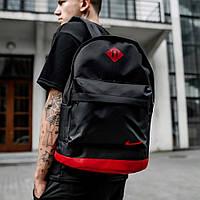 Стильный городской рюкзак Nike спортивный портфель Найк цвет черный с красным