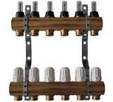 Коллекторы ( гребенки ) двойные с расходомерами (отопление, теплый пол)
