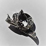 """Брошь Анна Ясеницька """"Узелок из страз"""", серебристый, черный, фото 3"""