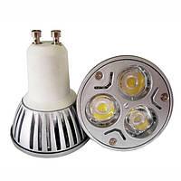 Светодиодная лампа GU10 3*1W LED Тепло-белая