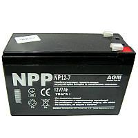 Аккумулятор свинцово-кислотный NPP  NP12-7 (12V,7.0Ah)