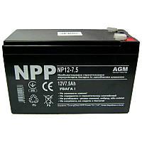 Аккумулятор свинцово-кислотный NPP  NP12-7.5 (12V,7.5Ah)(Акция!!!)