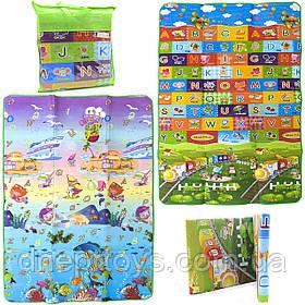 Игровой детский коврик EVA двусторонний в сумке, 180х120 см (36553)