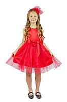 Нарядное платье 15-250 (красное, р.98-134)