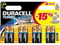 Батарейки Duracell Turbo Max FSB 8AA (щелочные-alkaline)