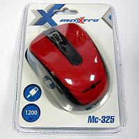 Компьютерная мышка Maxxtro Mc-325-R  красная,USB