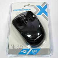 Компьютерная мышка Maxxtro Mc-325 черная,USB