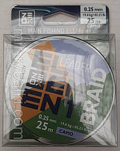 Шнур Zeox Element Leader Braid 25м Camo 0.25мм
