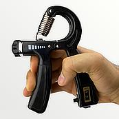 Еспандер кистьовий пружинний з лічильником Cima з навантаженням 10-40 кг Чорний